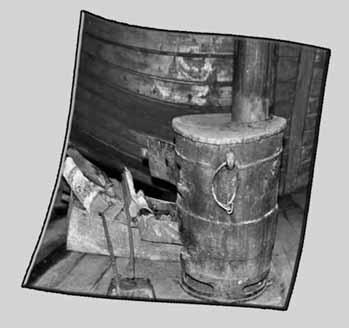 печка внутри вагона